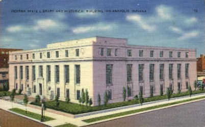 Indiana State Library - Indianapolis Postcards Postcard