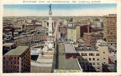 Bird's Eye View - Indianapolis Postcards, Indiana IN Postcard