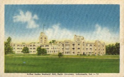 Arthur Jorden Memorial Hall - Indianapolis Postcards, Indiana IN Postcard