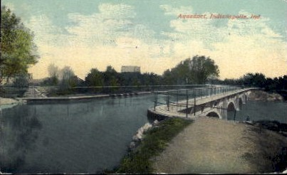 Aqueduct - Indianapolis Postcards, Indiana IN Postcard