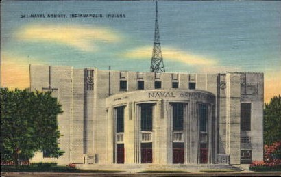 Naval Armory - Indianapolis Postcards, Indiana IN Postcard