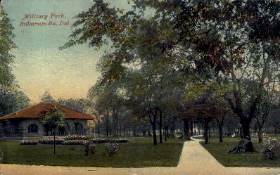 Military Park - Indianapolis Postcards, Indiana IN Postcard