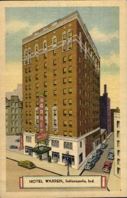 Hotel Warren - Indianapolis Postcards, Indiana IN Postcard