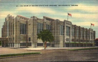 Cloiseum at Indiana State Fair Grounds - Indianapolis Postcards Postcard