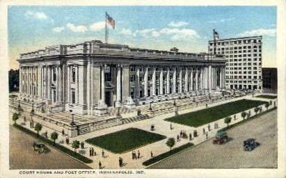 Court House and Post Office - Indianapolis Postcards, Indiana IN Postcard