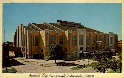 Coliseum, State Fair Grounds - Indianapolis Postcards, Indiana IN Postcard