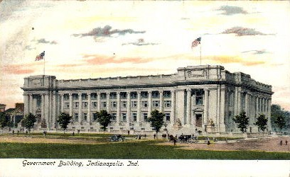 Government Building - Indianapolis Postcards, Indiana IN Postcard