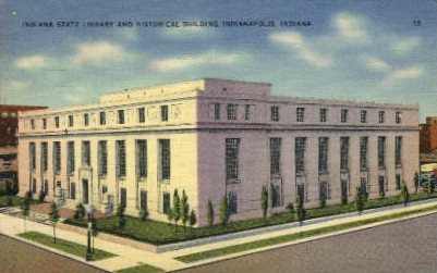 Library and Historical Building - Indianapolis Postcards, Indiana IN Postcard