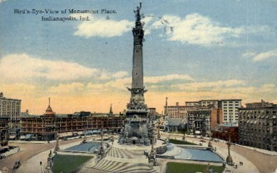 Monument Place - Indianapolis Postcards, Indiana IN Postcard