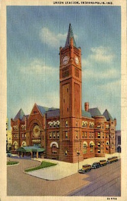 Union Station - Indianapolis Postcards, Indiana IN Postcard