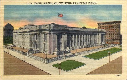 U.S. Federal Building and Post Office - Indianapolis Postcards, Indiana IN Postcard