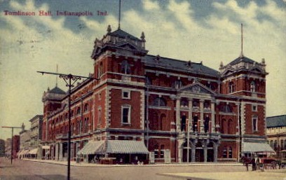 Tomlinson Hall - Indianapolis Postcards, Indiana IN Postcard