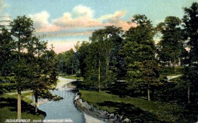 Brookside Park - Indianapolis Postcards, Indiana IN Postcard