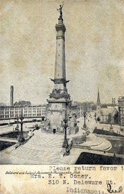 Soldiers' and Sailors' Monument - Indianapolis Postcards, Indiana IN Postcard