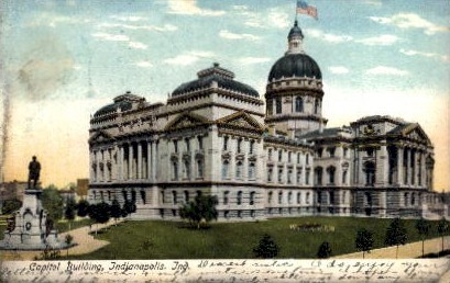 Capitol Building - Indianapolis Postcards, Indiana IN Postcard