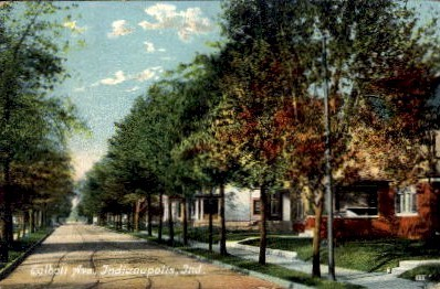 Calbott AVE. - Indianapolis Postcards, Indiana IN Postcard