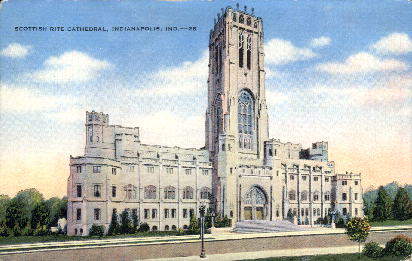 Scottish Rite Cathedral - Indianapolis Postcards, Indiana IN Postcard