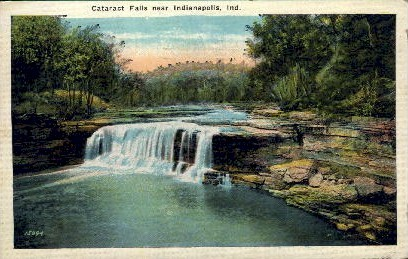 Cataract Falls - Indianapolis Postcards, Indiana IN Postcard