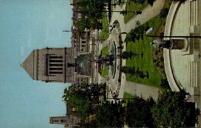 University Park, War Memorial Building - Indianapolis Postcards, Indiana IN Postcard