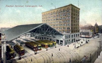 Traction Terminal - Indianapolis Postcards, Indiana IN Postcard
