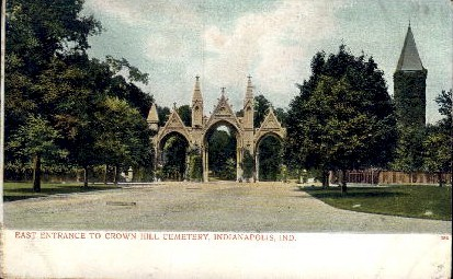 Crown Hill Cemetery - Indianapolis Postcards, Indiana IN Postcard