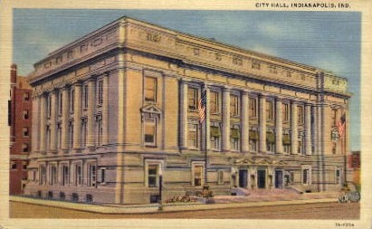 City Hall - Indianapolis Postcards, Indiana IN Postcard