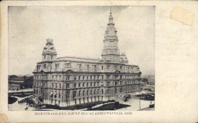 Marion County Court House - Indianapolis Postcards, Indiana IN Postcard