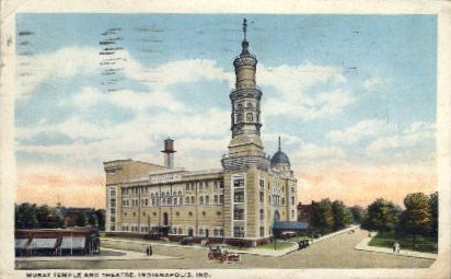Murat Temple and Theatre - Indianapolis Postcards, Indiana IN Postcard