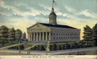 First State House - Indianapolis Postcards, Indiana IN Postcard