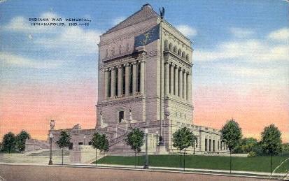 Indiana War Memorial - Indianapolis Postcards Postcard