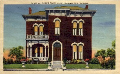 James Whitcomb Riley's Residence - Indianapolis Postcards, Indiana IN Postcard