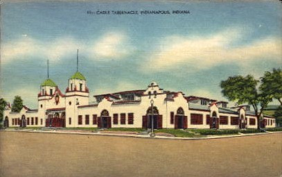 Cadle Tabernacle - Indianapolis Postcards, Indiana IN Postcard