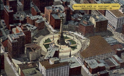 Monument Circle - Indianapolis Postcards, Indiana IN Postcard