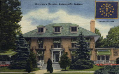 Governor's Mansion - Indianapolis Postcards, Indiana IN Postcard