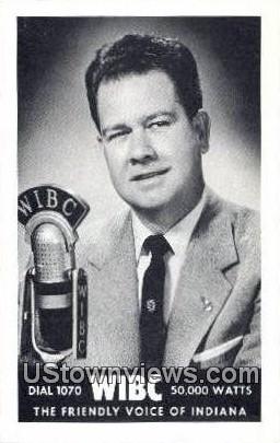 1070 WIBC, Jim Shelton - Misc, Indiana IN Postcard