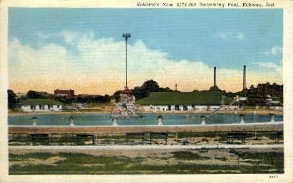 Kokomo's new swimming pool - Indiana IN Postcard