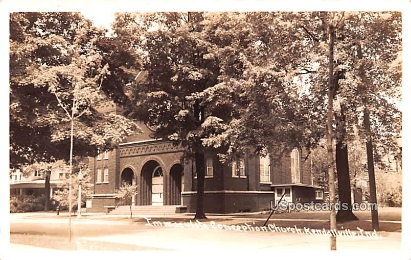 Immaculate Conception Church - Kendallville, Indiana IN Postcard