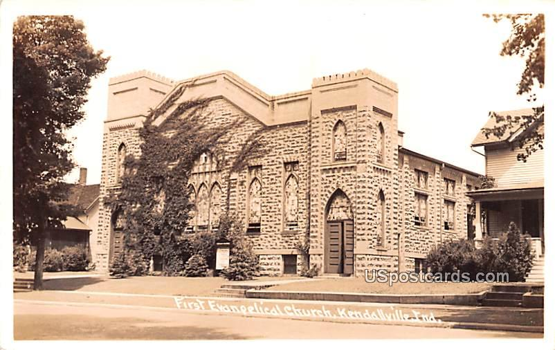 First Evangelical Church - Kendallville, Indiana IN Postcard
