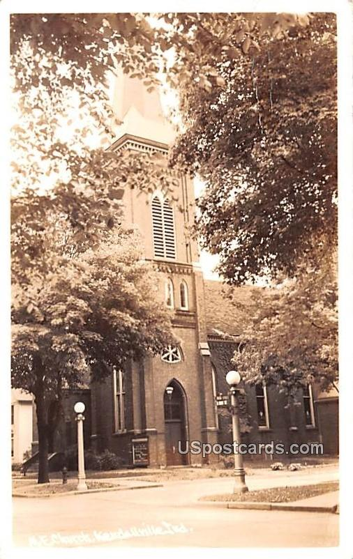 ME Church - Kendallville, Indiana IN Postcard
