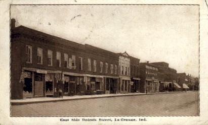 East Side Detroit Street - La Grange, Indiana IN Postcard