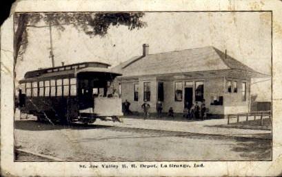 St. Joe Valley R. R. Depot - La Grange, Indiana IN Postcard