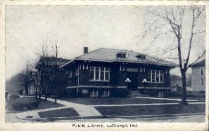Public Library - La Grange, Indiana IN Postcard