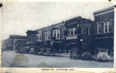 Detroit Street - La Grange, Indiana IN Postcard