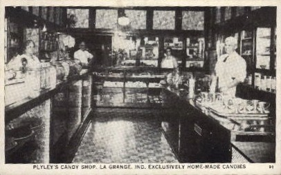 Plyey's Candy Shop ( homemade candies) - La Grange, Indiana IN Postcard