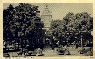 Court House - La Grange, Indiana IN Postcard