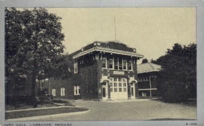 City Hall - La Grange, Indiana IN Postcard