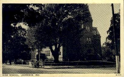 High School - La Grange, Indiana IN Postcard