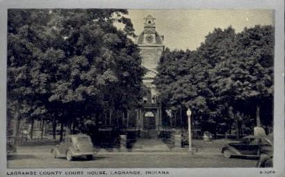 La Grange County Court House - Indiana IN Postcard