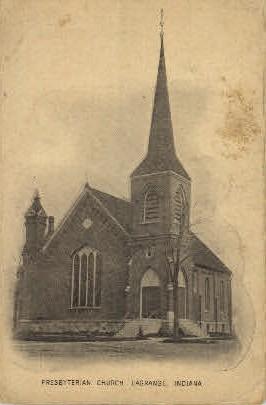 Presbyterian Church - La Grange, Indiana IN Postcard