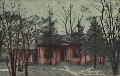 Judge Biddle's Homestead  - Logansport, Indiana IN Postcard